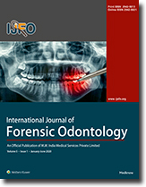 International Journal Of Forensic Odontology Table Of Contents